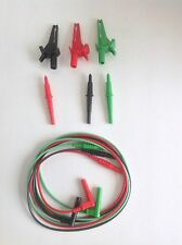 3 Wire Test Leads for Multifunction Tester, Megger Fluke Kewtech Di-Log MFT