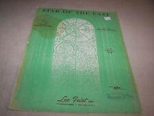 Star Of The East Amanda Kennedy George Cooper Sheet Music Vintage Leo Feist
