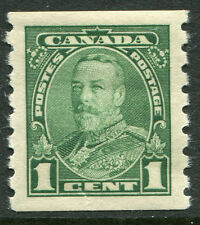 Canada # 228 Vf Light Hinged Issue - Coil Vertical Perf King George V - S6224