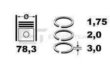 R1007700 Kolbenringsatz AUDI VW SKODA 2,5 TDI AFB, AYM, AKE 059198121E