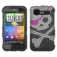 Skull Bling Case Phone Cover for HTC Droid Incredible 2