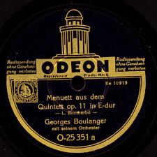 GEORGES BOULANGER & ORCH. Boccherini: Menuett a.d. Quintett Op. 11 E-dur  S6842