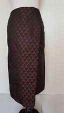 ZARA Women Navy/Black/Tan Geometric Print Skirt Size Euro XS
