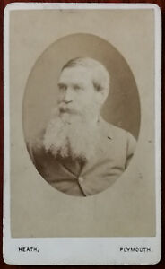William Heath, Plymouth. CDV Photograph of a Man with a Beard