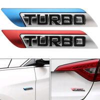 11.2cm*2.3cm 3D Metal Turbo Logo Car Auto Body Fender Emblem Badge Decal Sticker