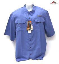 Habit Men's River Guide Short Sleeve Shirt 2XL~ Blue ~ New