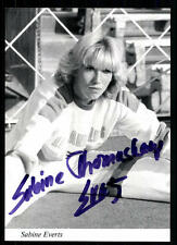 Sabine everts autografiada mapa original firmado atletismo + a 86614