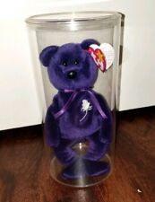 Princess Diana Ty Beanie Baby 1997 P.E. Pellets and Display Case