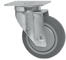 "RMW Caster 3-1/2"" Diameter Wheel Swivel Mounting Plate Stainless Steel"
