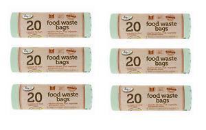5L Biodegradable  Compostable Food Waste Caddy Bin Liner Bag 5L UK STOCK