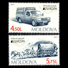 Moldava 2013 - EUROPA Stamps - Postal Vehicles - Sc 784/5 MNH