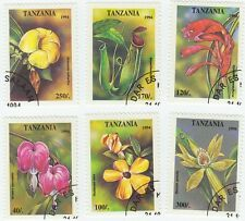 TANZANIA - Bustina 6 francobolli serie FIORI