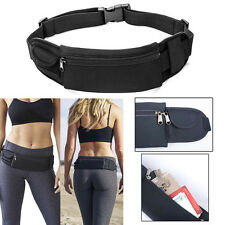 Waterproof Sport Zip Waist Belt Bum Bag Pouch Running Fanny Pack for Cellphone
