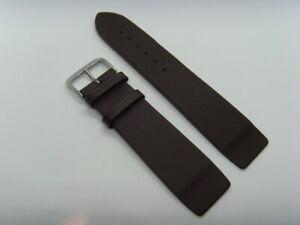 Watch Strap Leather Braun 24 MM Slide Attachment Screws Skagen BERING 125