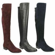 Casual Knee High Leather Pull on Women's Boots