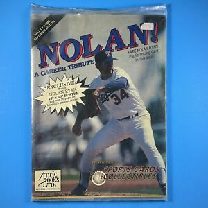Nolan Ryan A Career Tribute Hall of Fame Souvenir Edition Sealed Poster & Card!