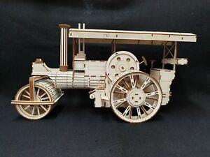 Laser Cut Wooden Vintage Steam Roller 3D Model/Puzzle Kit
