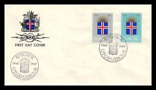 Iceland 1969 FDC, 25th Anniversary of the Republic. Lot # 1.