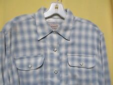 ROCKMOUNT Vintage 1950s Style PLAID Diamond Pearl Snaps Rockabilly Western Shirt