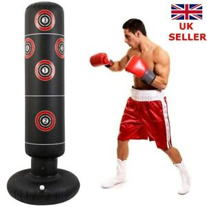 160cm Heavy Duty Free Standing Boxing Punch Bag Kick Training Indoor Sports UK