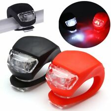2x Silicone Bicycle Bike Cycle Safety LED Head Front Rear Tail Light Flash Lamp