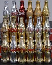 Lot of 18 GOLD & SILVER Commemorative Coca-Cola Bottles