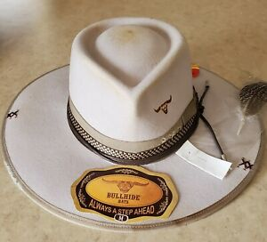Searing Desert Silverbelly Western Courture Collection Bullhide Hats Size M NWT