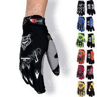 Racing Motor Motorbike Motocross Cycling Dirt Bike Full Finger Gloves A02 G S