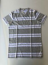 Abercrombie & Fitch Men's T Shirt Size L Gray/White