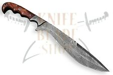 "DAMASCUS STEEL BLADE MACHETE KNIFE,WOOD HANDLE,OVERALL 15""INCH"