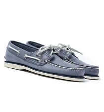 Timberland Men Navy Blue Classic Boat Shoes Lace Up Leather Extra Comfort UK 8