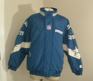 Vtg Men's STARTER Pro Line DALLAS COWBOYS NFL Retro Throwback Jacket Large