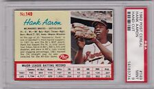 1962 Post Cereal Hank Aaron #149, HOF, PSA Mint 9, Braves