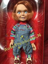 """NEW Mezco Child's Play Happy Good Guy Chucky Doll Mega Size 15"""" Talking Figure"""