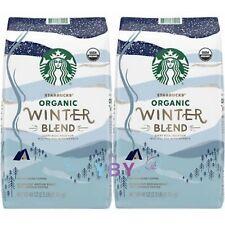 2 Packs Starbucks Organic Winter Blend Whole Bean Coffee, Medium, 2.5 lbs Each