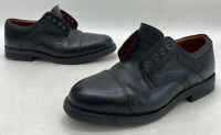 Johnston & Murphy Mens Black Leather Dress Cap Toe Oxford Dress Shoes Size 11.5M