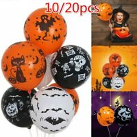 10/20Pcs Latex Balloons Pumpkin Skull Spider Web Pattern Balloon Halloween Decor