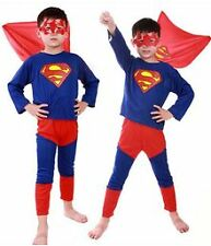 Superman Small Costume Fancy Dress Suit & Eye Mask for Kids (4 year) Gift Cloth