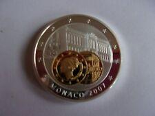 SUPER PIECE anniverssaire euro monaco GRACE KELLY 2007 plaqué or plaqué argent