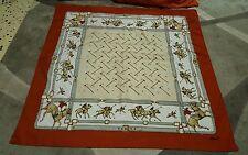 Foulard vintage scarf square woman 84x84 Burmel horse polo