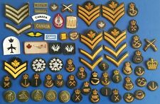 Nice lot  0f 62 + Military Canadian  ranks &  patches  ..