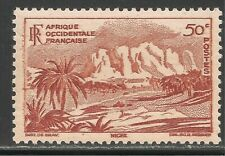 French West Africa #39 (SG #37) VF MNH - 1947 50c Oasis of Bilma, Niger