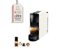 Cafetera de cápsulas - Nespresso Krups XN1101 Essenza Mini, 19 bares, Blanco