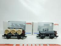 BJ544-0,5# 2x Märklin H0/DC Weinfasswagen 46741+46426 DRG NEM KK NEUW+OVP