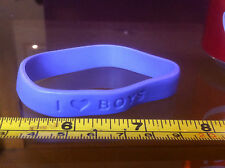 I Love Boys Girls Girl Rubber Wrist Band Fun Choose A Colour from 2nd Pic