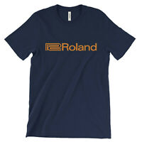 Roland logo T Shirt - Electronic Music Equipment keyboard synth Boss Rhodes