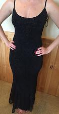 JESSICA MCCLINTOCK for GUNNE SAX Women's Black Glittery Long Dress Size 3 NEW