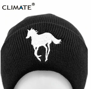 HORSE & WESTERN CLOTHING EMBROIDERED HORSE RIDING  KNIT BEANIE HAT BLACK UNISEX