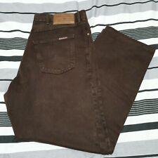 MARLBORO CLASSICS Mens Brown Straight Leg 100% Cotton Jeans Size W44 L36