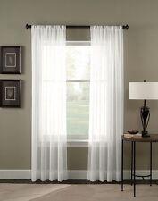 "Curtainworks Trinity Crinkle Voile Sheer Curtain Panel, 51 by 63"", Winter"